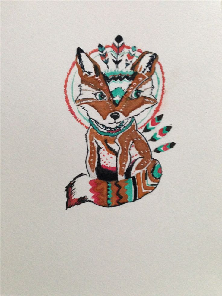 I saw this fox on a sweater, at Saydia, the sweater did't fit but loved the fox