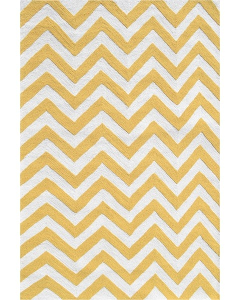 Yellow Chevron Rug. I Want This In Babys Room!