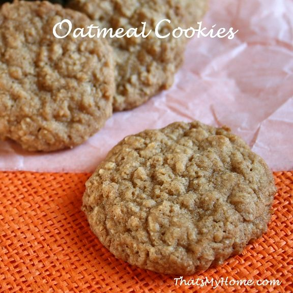 Brown Sugar Oatmeal cookies recipe