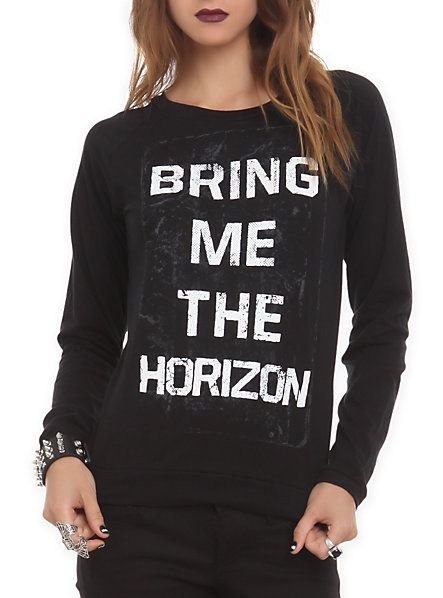 Bring Me The Horizon Logo Girls Pullover Top   Hot Topic