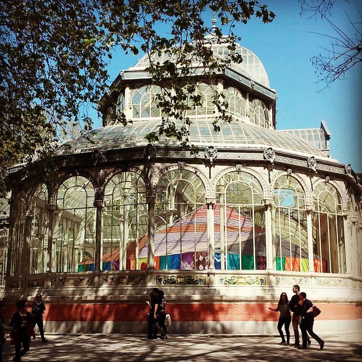 Palacio de Cristal en el Parque del Retiro, Madrid.