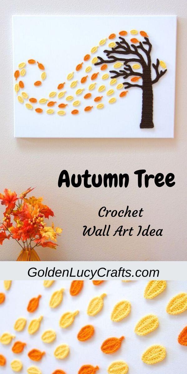 Crochet Wall Art Autumn Tree Crochet Wall Art Halloween Wall