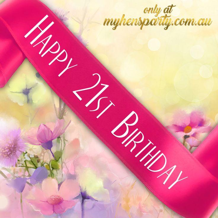 Happy 21st Birthday Sash