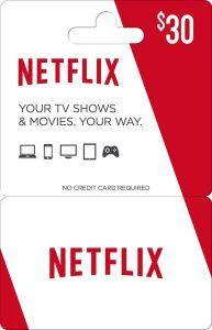$30 Netflix Gift Card Giveaway! Ends: 01/31/2017 Value: $30