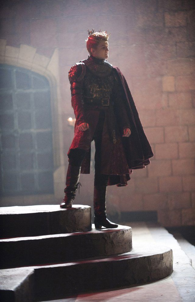 Jack Gleeson as Joffrey... handsome photo. Poor actor is not allowed to make any expressions without a smirk.  Game of thrones photo from IMDB