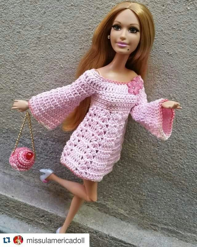 Vistoso Patrones De Ganchillo Para La Ropa De La Muñeca Barbie ...