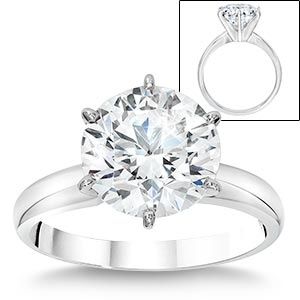 4.25 ct Round Diamond solitaire Ring.  Now, I wouldn't want a ring this big but if someone gave me one, I wouldn't turn it down.  Funny it is sold at Costco.