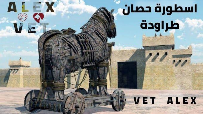 حصان طروادة الحصان الخشبي الذي جعل الاغريق تفوز بالحرب Vets Lion Sculpture Veterinary