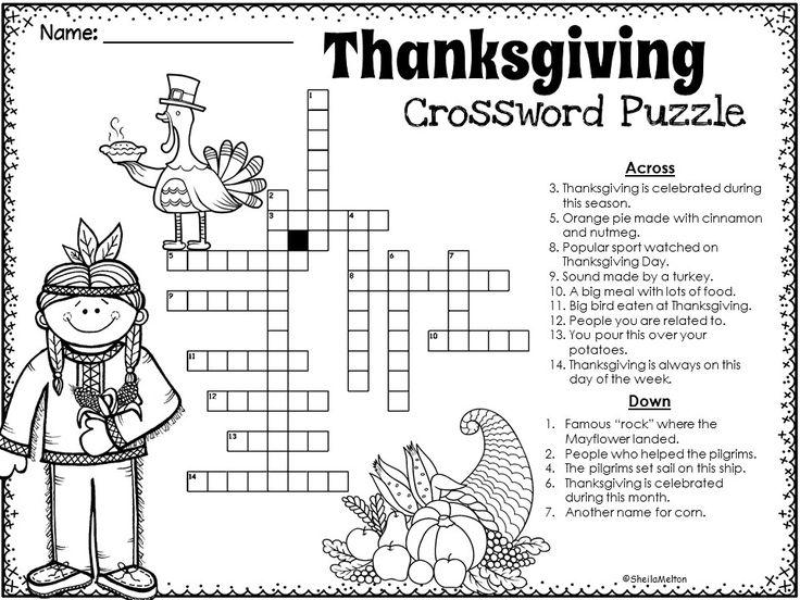 Best 25+ Thanksgiving crossword puzzle ideas on Pinterest