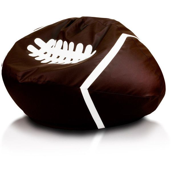 Football Style Large Bean Bag Chair (1,145 CNY) ❤ liked on Polyvore featuring home, furniture, chairs, brown, bean bag, colored furniture, computer furniture, colored bean bags and bean-bag chair