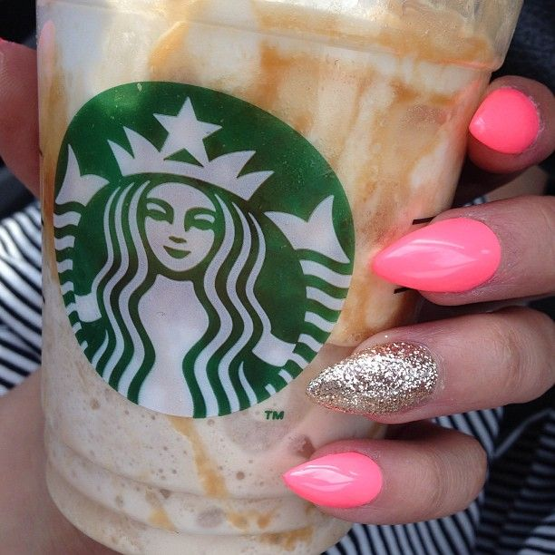 Not a fan of the starbucks but I love the color of the nails