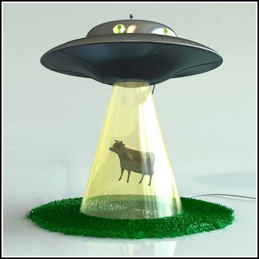 Alien abduction table lamp