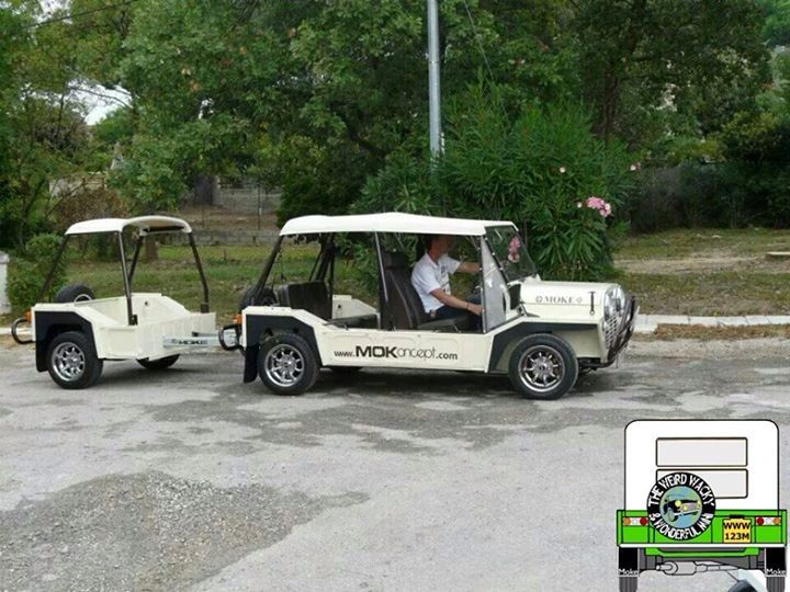 Mini Moke and trailer