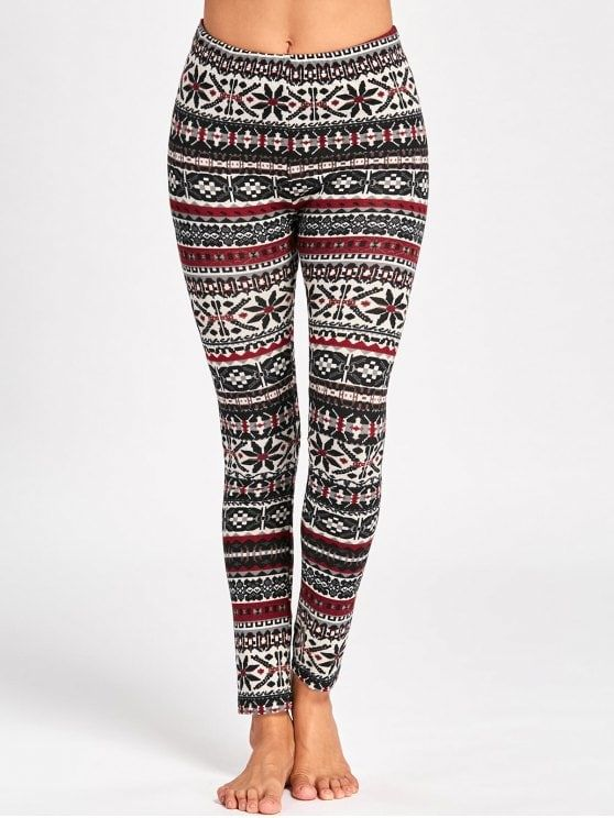 91ed911d5378 Christmas Graphic Skinny Pants - COLORMIX 2XL