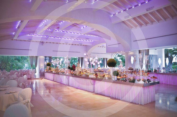 Cerimonia Trani, decorazioni floreali per matrimonio, sala ricevimento