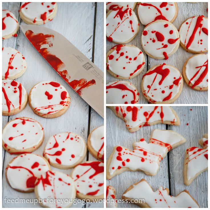 Trick or Treat: Splatter-Cookies und Devil's Food Cupcakes « feed me up before you go-go