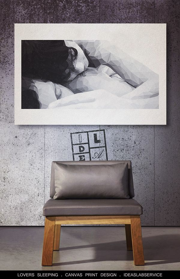 Lovers sleeping - Canvas prints on Behance