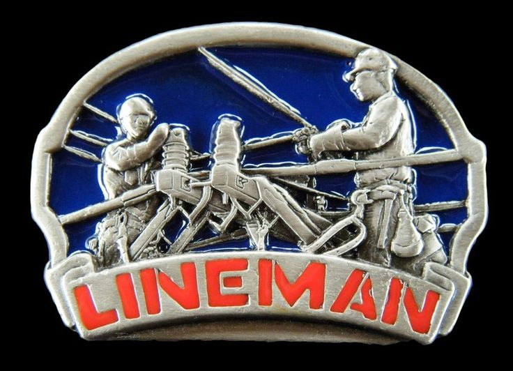 TV TELEPHONE CABLE POLE GUY LINEMAN WORKERS ELECTRICIAN TOOL BELT BUCKLE BUCKLES #CoolBuckles #lineman #beltbuckle