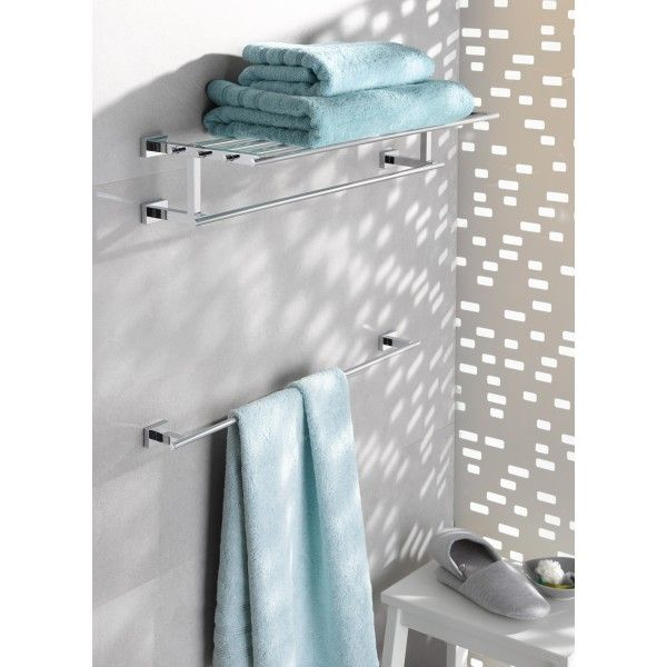 Полка для полотенец GROHE Essentials Cube с дополнительной горизонтальной штангой 600 мм, хром 40512001