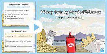 Chapter 1 Activities to Support Teaching on Misery Guts by Morris Gleitzman PowerPoint - Literacy, powerpoint, literature, australian curriculum, literature, novel study, misery guts by mor