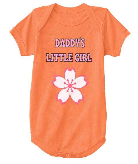 Daddy's   Little Girl Orange T-Shirt Front