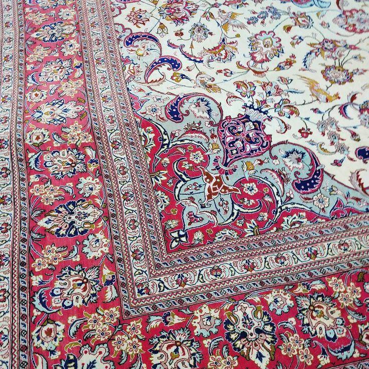 Pure Silk Qum from Iran  #puresilk #silk #qum #iran #rug #rugs #handmade #pastel #pink #persianrug #persian #rare #sydney #sydneystyle #sydneylocal #interiorinspiration #interiordesign #interior #livingroomdecor #designinspiration #carpet #homedecor #homedesign #homestyle #traditional