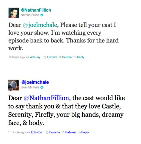 Nathan Fillion and Joel McHale