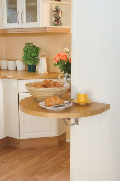 10 Ideas To Use Small Folding Tables On A Kitchen - Shelterness