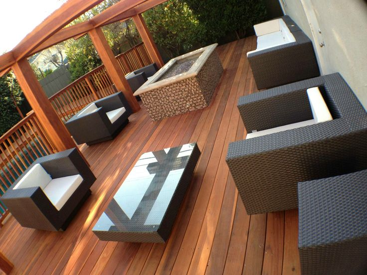 Gorgeous redwood deck against black furniture beatiful wood decks patios pinterest the - Decking furniture ideas ...