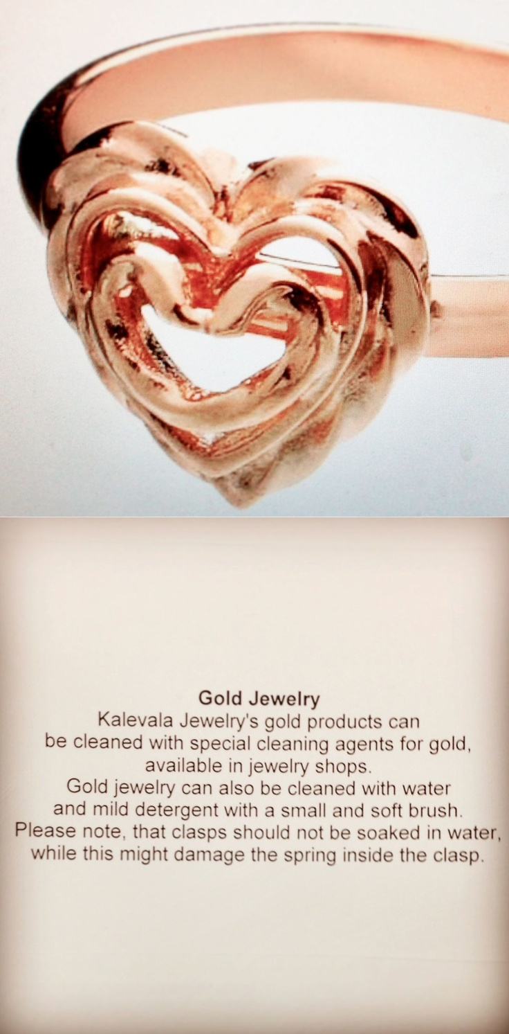 Caring for gold jewelry