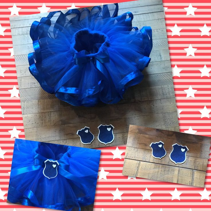 Police graduation inspired tutu! Tutus for every occasion! Little princess will see daddy graduate from the police academy. www.etsy.com/shop/nandltutus #policeinspiration