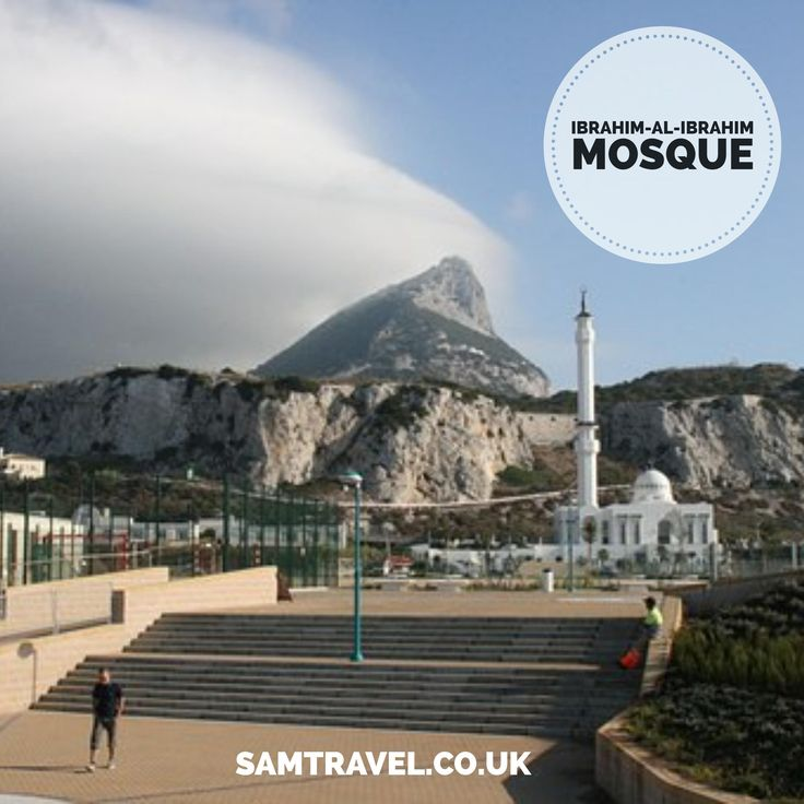 The Ibrahim-al-Ibrahim Mosque,also known as the King Fahd bin Abdulaziz al-Saud Mosque or the Mosque of the Custodian of the Two Holy Mosques,is a mosque located at Europa Point in the  British overseas territory of Gibraltar, a peninsula connected  to southern Spain.The mosque faces south towards the Strait of Gibraltar and Morocco several miles away.  #islam #muslim #islamic #islamicquotes
