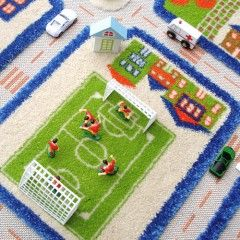 Use your 3D play rug with day to day cars and toys