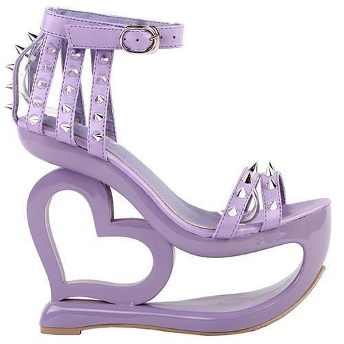 83ae98b83ee Hollow 3D Heart Platform Sandals Wedge Heel Shoes Sexy DDLG PLayground –  DDLG Playground