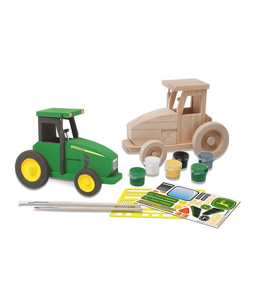 Great for parties, school projects or crafting at home, this kit has everything needed to create a spectacular tractor with all the bells and whistles. It's a simple and fun project, yielding attractive and one-of-a-kind results!Includes tractor model, sticker sheet, stencil sheet, six acrylic paints, two paintbrushes and instruction sheetWood / plastic