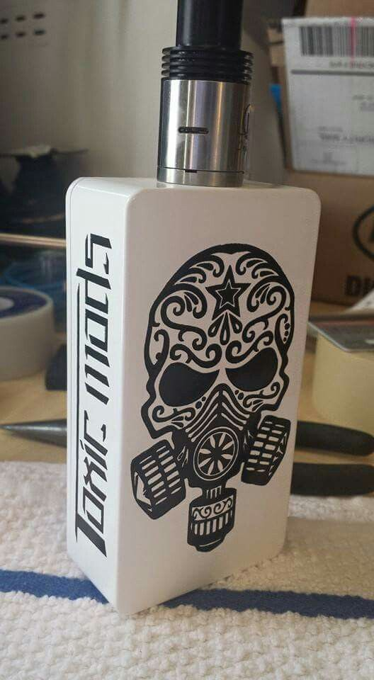 One of the sickest logos I've ever seen. Dual 18650 unregulated with mosfet. Ejuice Available at  http://www.voomvape.com/category/e-juice