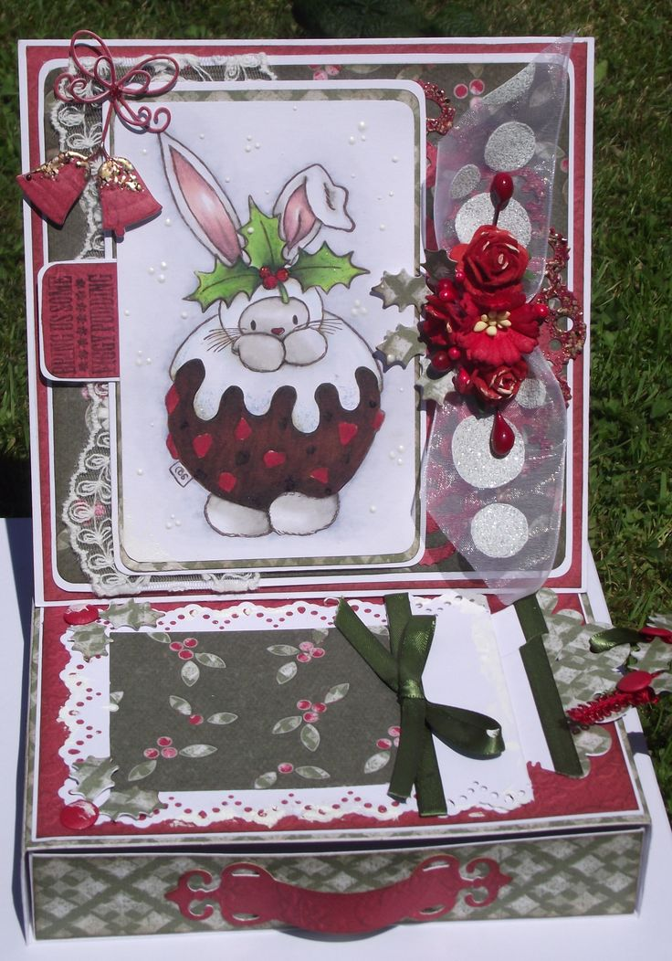 christmas easel card with drawer