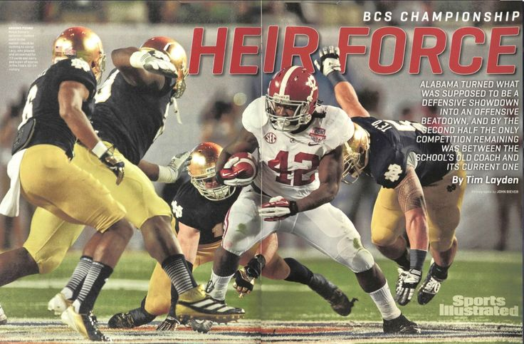"""HEIR FORCE"" Jan. 14, 2013 Sports Illustrated - CFB National Championship Issue #Alabama #RollTide #Bama #BuiltByBama #RTR #CrimsonTide #RammerJammer"