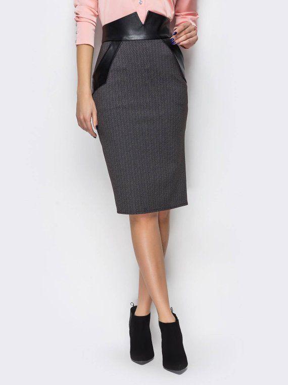 3a9493039893 Pencil skirt pockets Pencil skirt for women Length knee skirt Black ...
