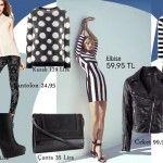 Bugün Hangi Moda 7 Ocak | Hangi Moda Bugün Hangi Moda?    Günün stilini H'den seçtik..    Yine siyah ve beyazın hakimiyeti ve şıklığı ile.    Elbise 59,95 Lira  Pantolon: 24.95 Lira  Bot: 129 Lira  Çanta: 35 Lira