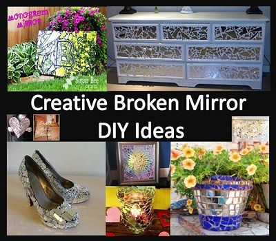 My Business - Creative Broken Mirror DIY Ideas - Not Bad Luck After All!!