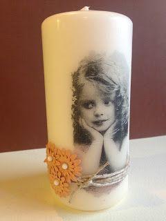 Randis hobbyverden: Vintage lys med decoupage