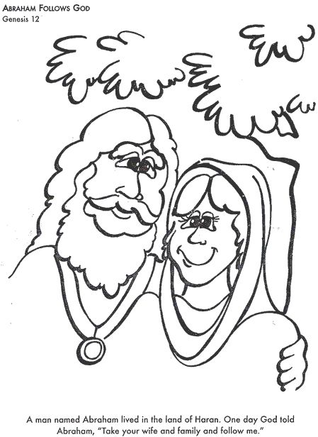 BIBLE COLORING PAGES Abraham Follows
