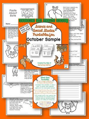 Facts About Bats: Informational Text Freebie   Do your students love bats as much as my second graders do? Here's an informational text about bats in mini-book form.  Check out this freebie sample HERE!  !  bats content area reading Elementary Matters facts about bats Halloween informational text reading comprehension