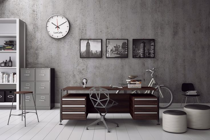 A home office for him - Masculine Industrial Style for the Modern Man