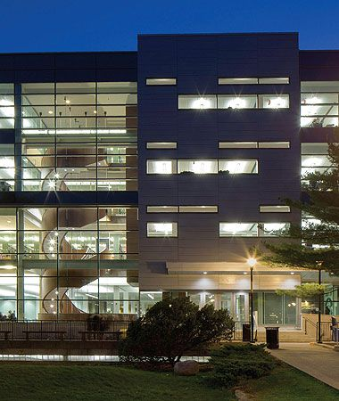 MacOdrum Library: increased student space while restoring natural light through glass and screen cladding