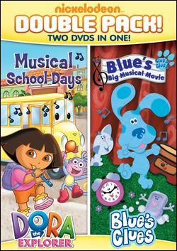 [OVER] Nickelodeon's Dora & Blue's Clues Double Feature: Dora's Musical School Days and Blue's Big Musical Movie DVD {Review & Giveaway ~ US}