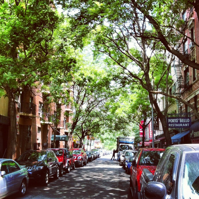 A typical tree-lined street in Greenwich Village #newyorkcity #greenwichvillage