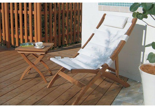ガーデンテーブルとガーデンチェア コスタリクライニングチェア【家具 ... ガーデンリクライニングチェア