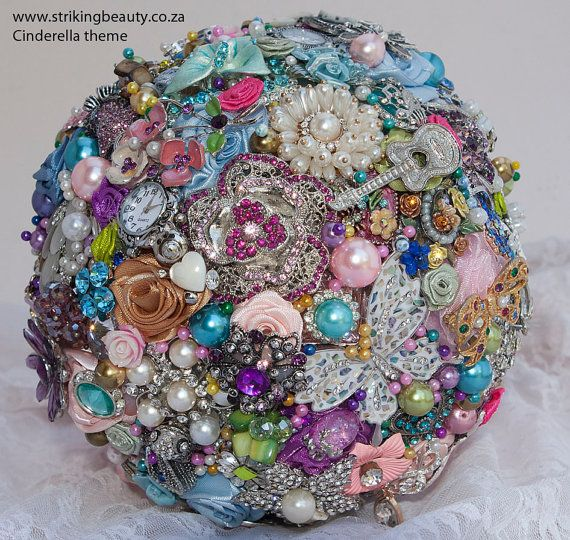 Cinderella Brooch Bouquet by BroochbouquetWedding on Etsy